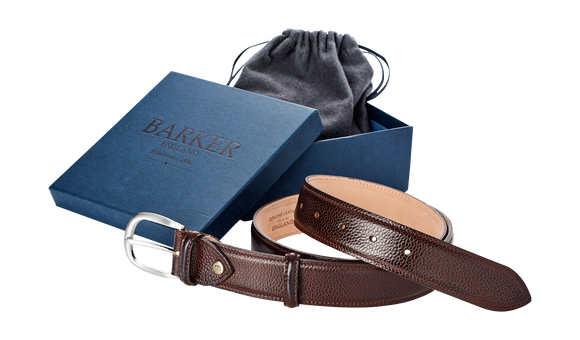 Plain Belt - Dark Brown Grain