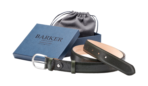 Plain Belt - Olive Green Grain