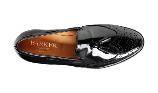Clive - Black Hi-Shine - Barker Shoes Rest of World