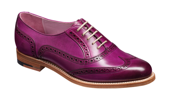 Fearne - Purple Hand Painted - Barker Shoes Rest of World