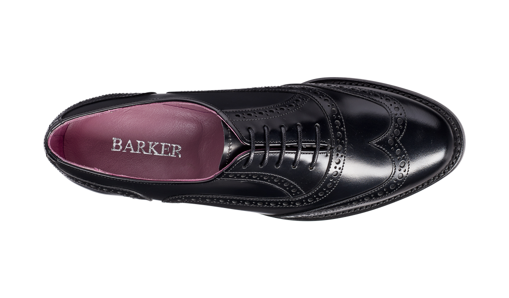 Freya - Black Hi-Shine - Barker Shoes Rest of World
