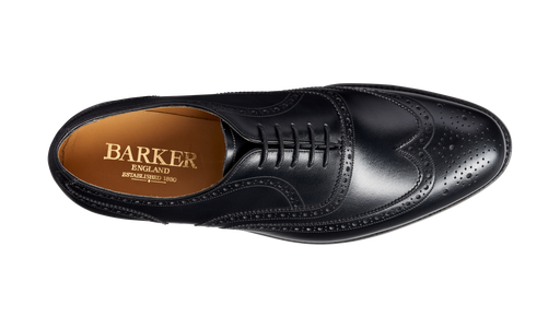 Glasgow - Black Calf - Barker Shoes Rest of World