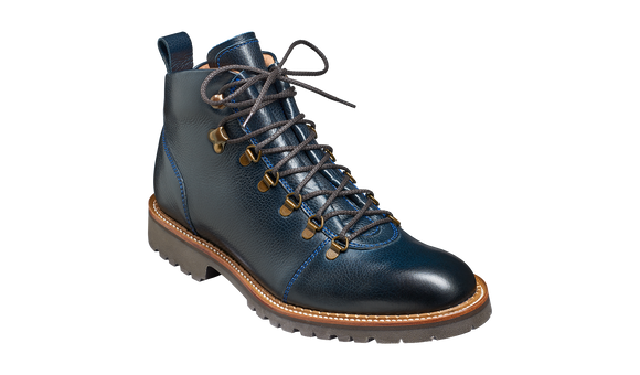 Glencoe - Navy Grain - Barker Shoes Rest of World