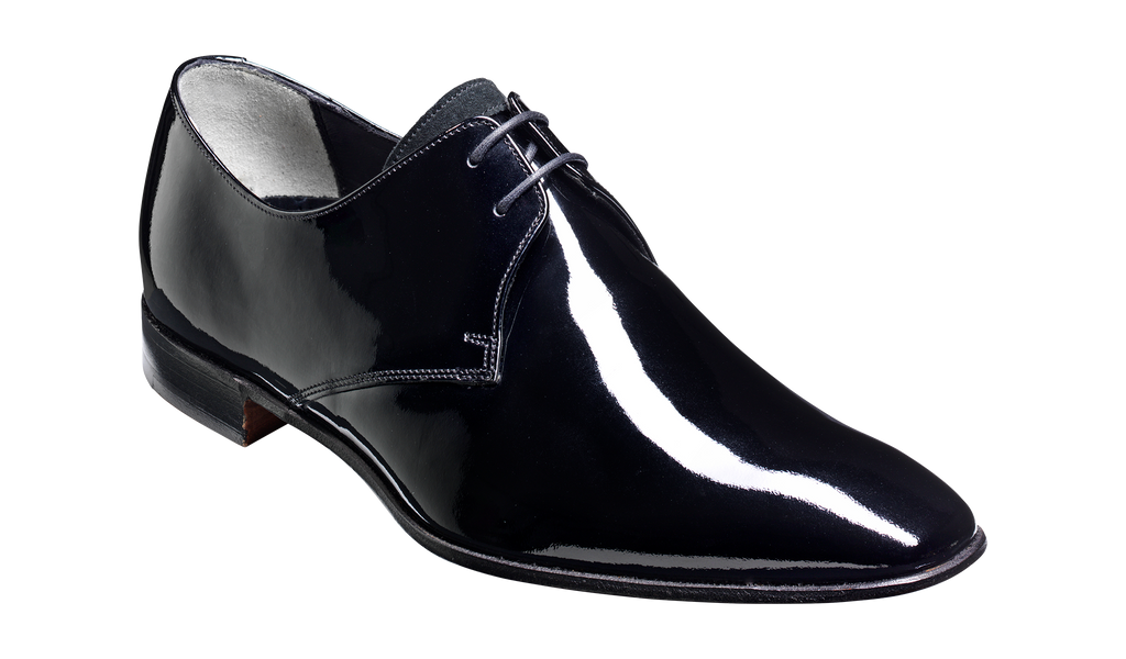 Goldington - Black Patent / Suede - Barker Shoes Rest of World