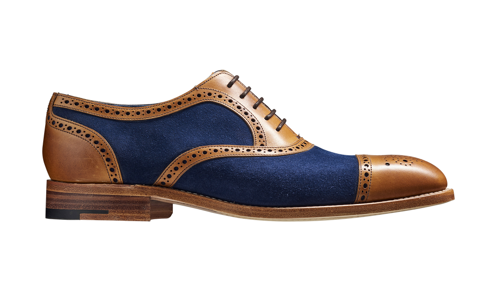 Hursley - Cedar Calf / Navy Suede