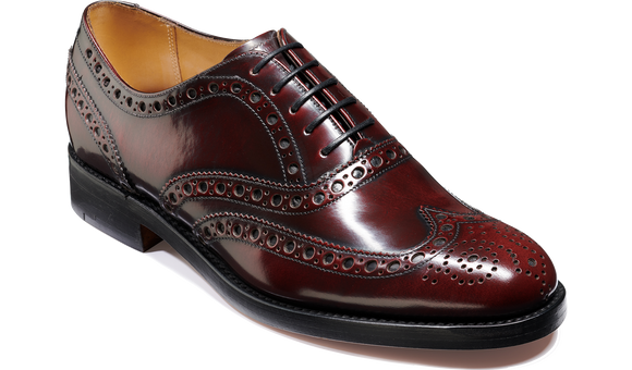 Padstow - Burgundy Hi-Shine - Barker Shoes Rest of World