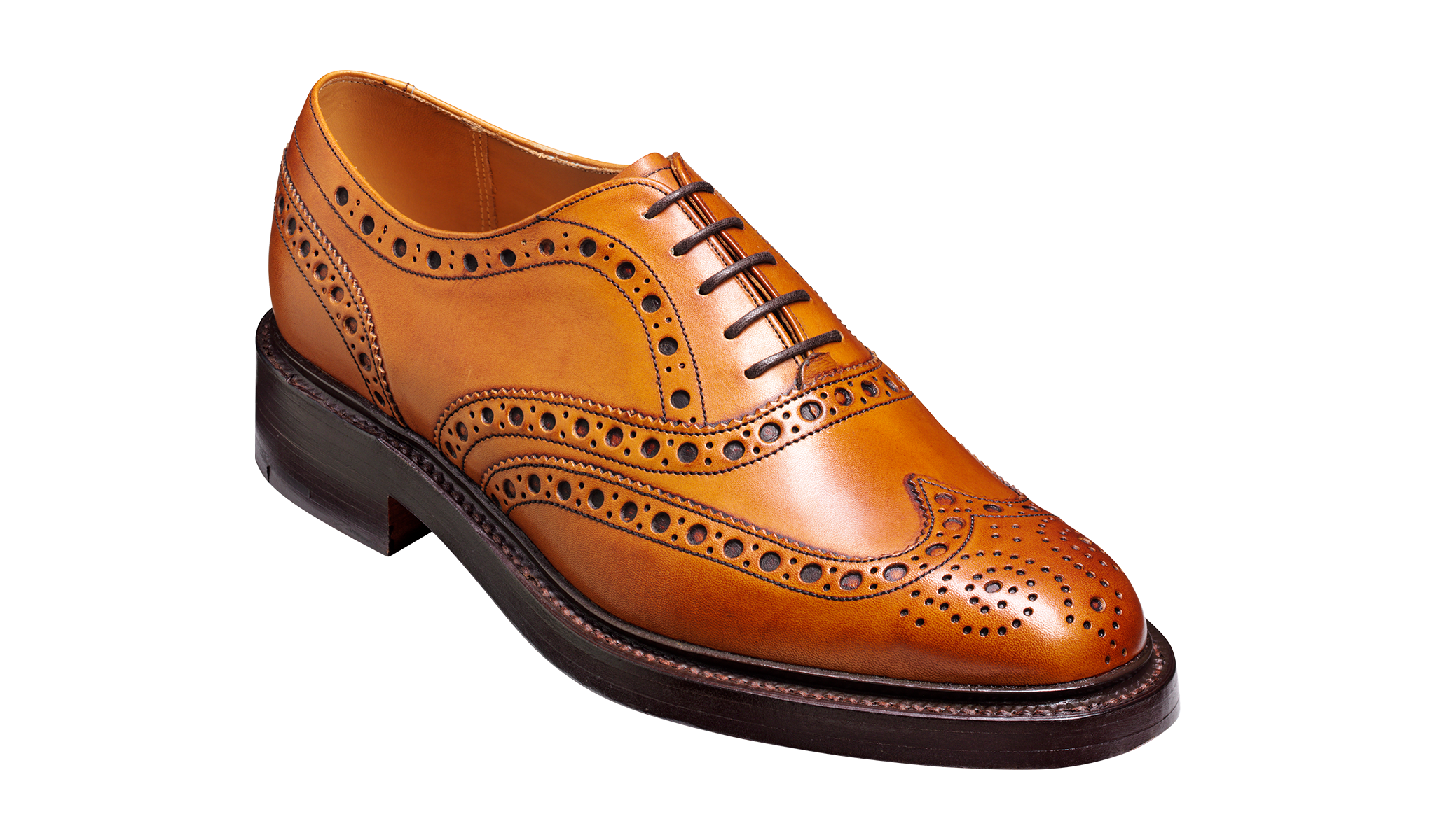 Westfield -  Men's brown brogue shoe from Barker
