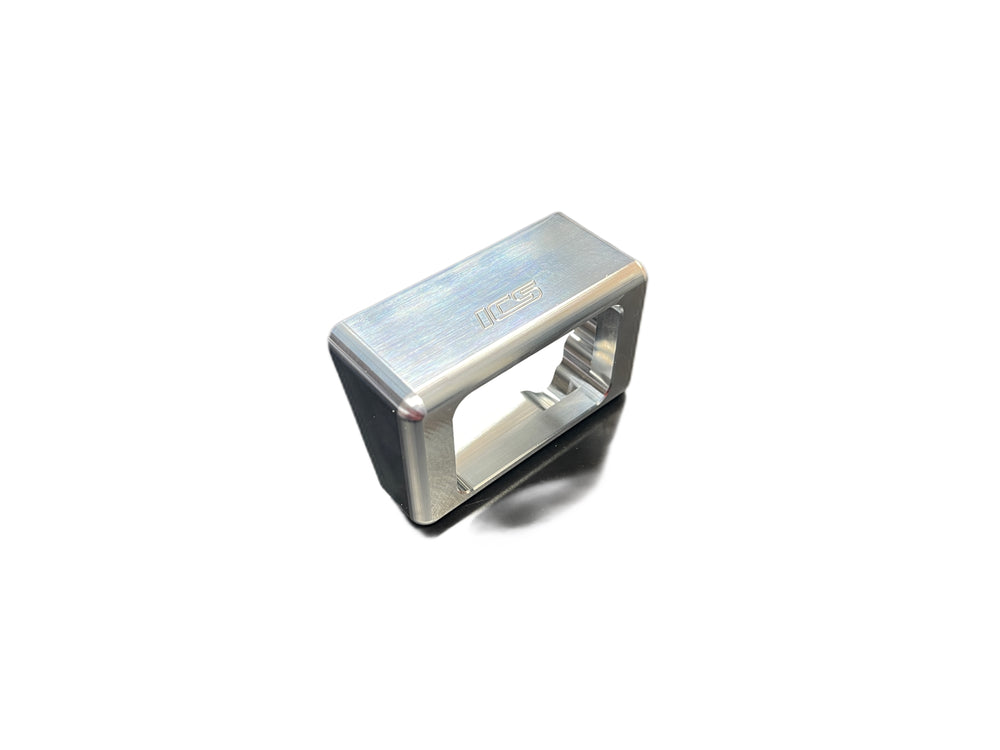ICS Brown Leather Logo, Gray Snapback Hat