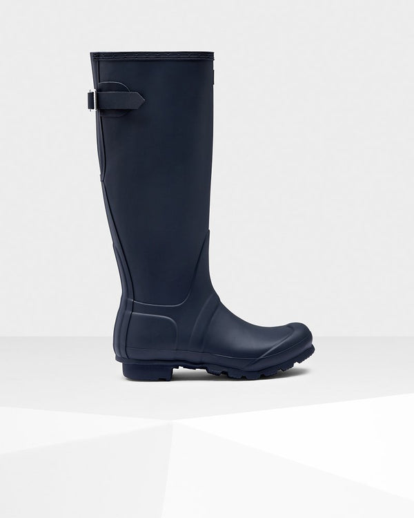 Hunter Original Tall Back Adjustable Rain Boots Women