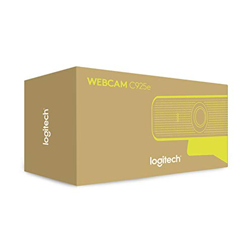 Logitech C925e Business Webcam, Video-Llamadas HD 1080p/30fps, Corrección de Iluminación Automática, Enfoque Automático, Sonido Nitído, Skype Business, WebEx, Lync, Cisco, PC/Mac/Portátil/Macbook