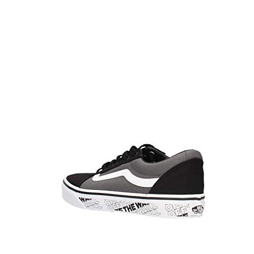 Vans Ward Suede_Canvas', Zapatillas Unisex niños, Black/White Lrn, 28 EU