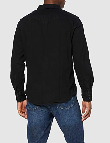 Levi's Barstow Western Standard Camisa, Black (Marble Black Denim Rinse 0002), XX-Large para Hombre
