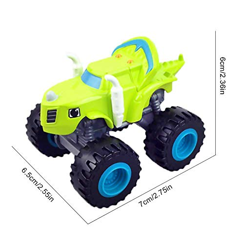 Mallalah 6 Pack de Juguetes para niños y Monster Machines Super Stunts Blaze Kids Truck Car Coll Regalo para niños en cumpleaños Navidad Toys Juguetes para niños de 1 2 3 años