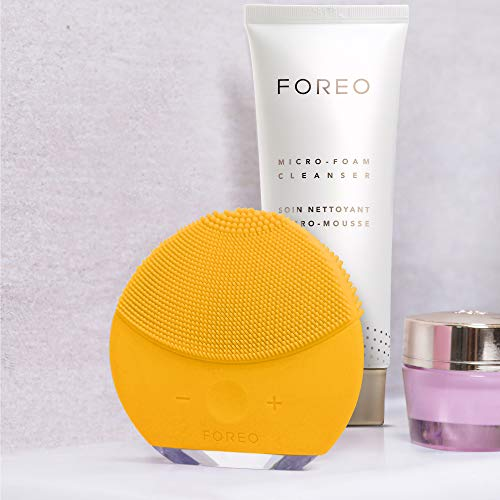 Foreo Luna mini 2 Cepillo Facial Sónico de Silicona, Amarillo (Sunflower Yellow)
