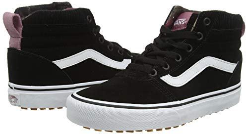 Vans Ward Hi MTE, Zapatillas Altas para Mujer, Negro ((Pop Color) Black/True White USM), 37 EU