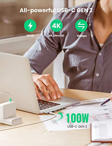 UGREEN HUB USB C Macbook Pro, Adaptador USB C Macbook Pro 13'' a 3 USB 3.0 Puertos, 4K HDMI, USB C Thunderbolt 3 100W Power Delivery PD Carga para Macbook Air 2020 2019 Macbook Pro 16'' 2020 2019 2018