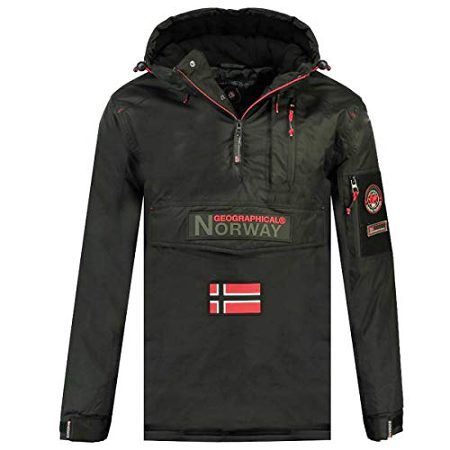 Geographical Norway Parka BARKER de hombre GRIS OSCURO talla S