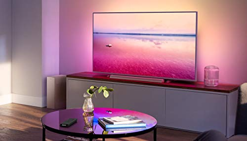 Philips B6405/10 Barra de Sonido TV con Subwoofer Inalámbrico (2.1 Canales, 140 W de Potencia, Bluetooth, Dolby Audio, HDMI ARC, Diseño Ultracompacto con Soporte Montaje en Pared) Modelo 2020/2021