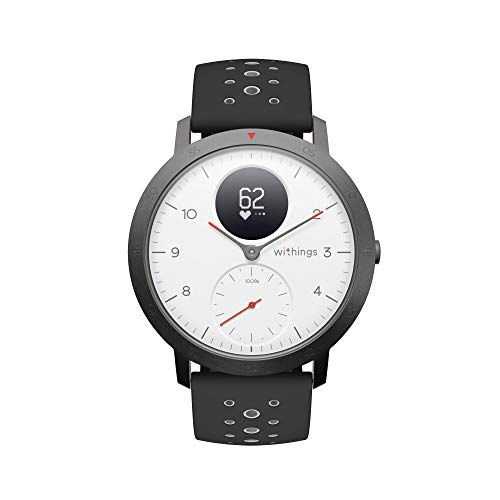 Withings Steel HR Sport Reloj Inteligente Híbrido, Unisex Adulto, Blanco, 40 mm