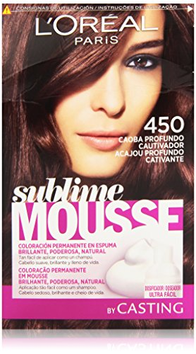L'Oreal Paris Sublime Mousse Coloración Permanente 450 Caoba Profundo Cautivador