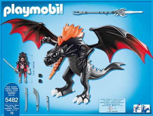 PLAYMOBIL Dragones- Giant Battle Dragon with LED Fire Gigante con Fuego, Multicolor, 39.9 x 30.0 x 12.7 (5482)