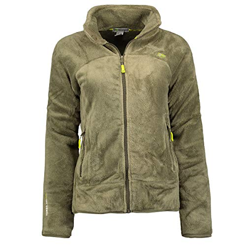Geographical Norway, Upaline, Chaqueta polar para mujer, oliva, S