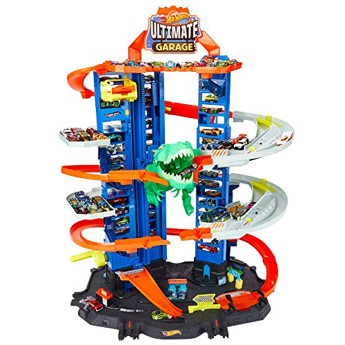 Hot Wheels Ultimate Garage, garaje y pista para coches de juguete (Mattel GJL14)