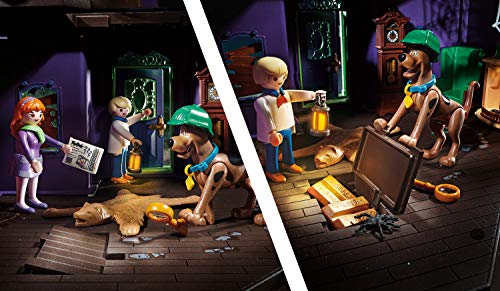 Playmobil - SCOOBY DOO! Aventura en la casa embrujada, Juguete, Color Multicolor, 70361