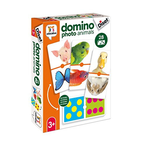 Diset- Juguete educativos Domino Photo Animals (68968)