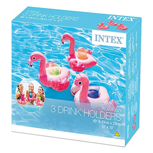 Intex 57500NP Set 3 posavasos hinchables diseño de flamenco, 1.Mini