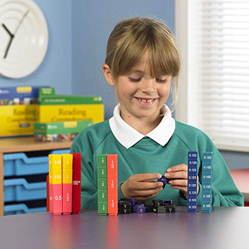 Learning Resources Resources-LER2509 Conjunto de equivalencia de Cubos Fraction Tower, Color (LER2509)