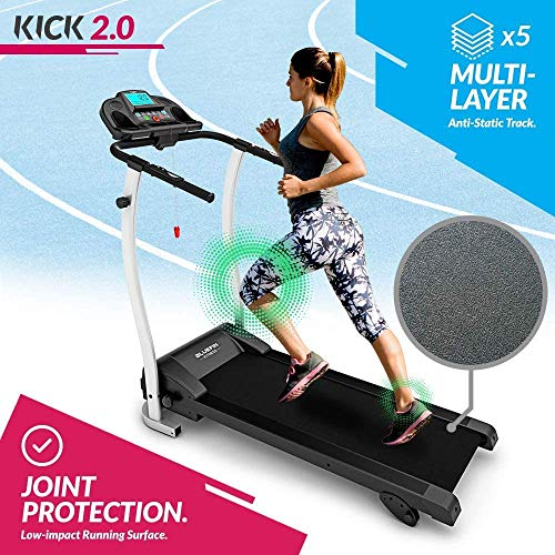 Bluefin Fitness Kick 2.0 Innovadora Cinta de Correr Plegable de Alta Velocidad, Unisex Adulto, Negro, High-Speed Folding Treadmill