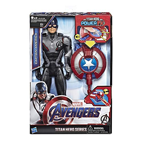 Marvel Avengers - Endgame Capitán América Titan Hero Power FX, Multicolor, 30 cm, E3301103
