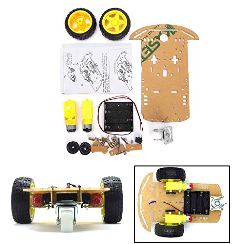 DollaTek Smart Motor Robot Car Battery Box Kit de Chasis Speed Encoder para Arduino