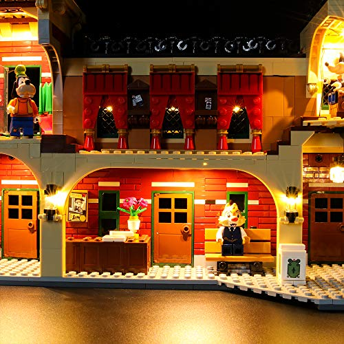 LIGHTAILING Conjunto de Luces (Disney Train and Station) Modelo de Construcción de Bloques - Kit de luz LED Compatible con Lego 71044 (NO Incluido en el Modelo)