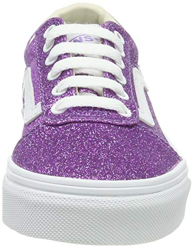 Vans Ward Canvas, Zapatillas para Niñas, Morado ((Glitter) Fairy Green WREN/True White V2h), 27 EU