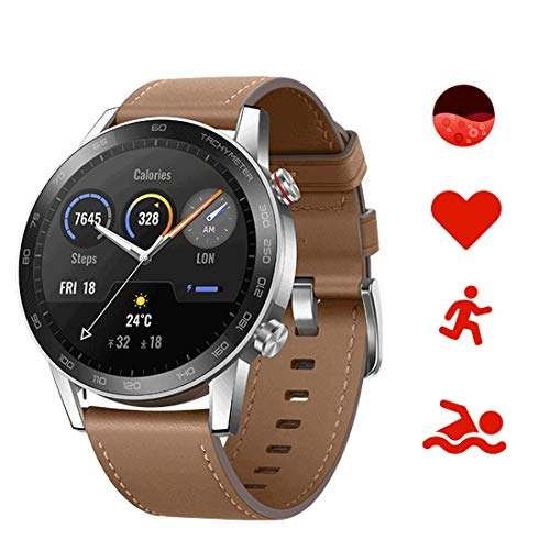 Honor Magic Watch 2 Smartwatch 46mm, Monitor de Frecuencia Cardíaca y Estrés, Spo2, GPS,14 Días Standy, 5ATM Waterproof,15 Modos Deportivos, Llamadas Bluetooth,Pantalla Táctil Amoled de 1.39""