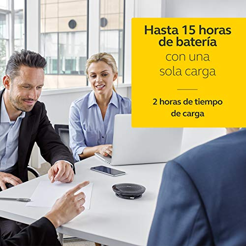 Jabra Speak 510 - Altavoz portátil para conferencias con USB y Bluetooth, compatible con PC, Smartphones y Tabletas