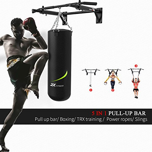 JX FITNESS Barras de Dominadas Pared, Wall Pull Up Bar Barra de Tracción, Boxeo TRX Entrenamiento y Resistencia Training, Multifuncional Workout Bar