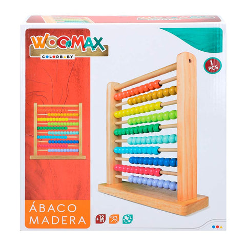 Image of WOOMAX- Ábaco de Madera (ColorBaby 40995)