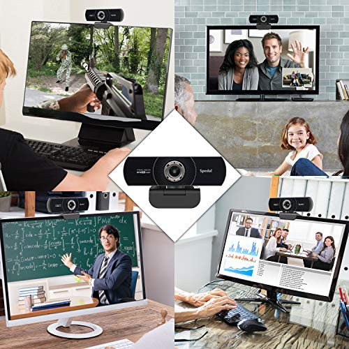 Spedal Webcam 1080p 60fps, HD Cámara Web con Micrófono para Escritorio, Cámara Web USB de Enfoque Manual para para Video Chat y Grabación, Compatible con Windows, Mac y Android