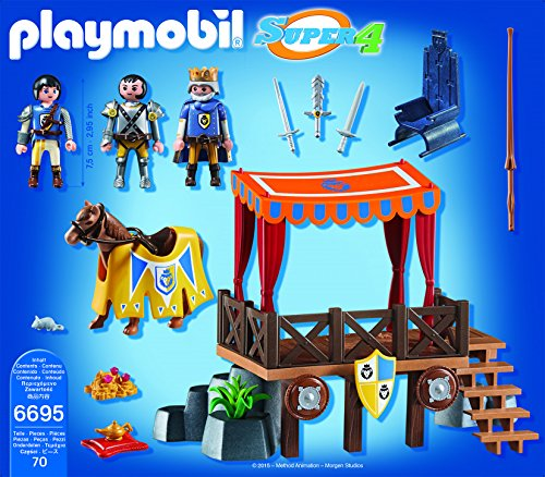 PLAYMOBIL- Royal Tribune with Alex Playset, Multicolor (6695)