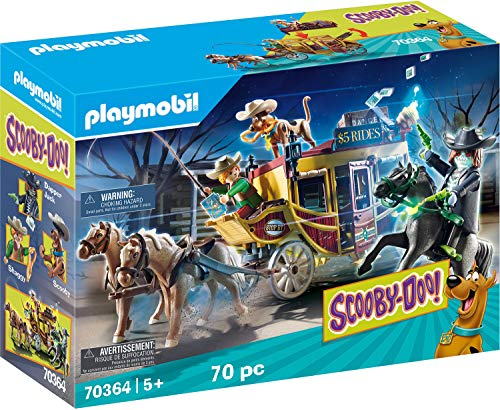 Playmobil - SCOOBY-DOO Aventura en el Salvaje Oeste Juguete, Color Multicolor, 70364