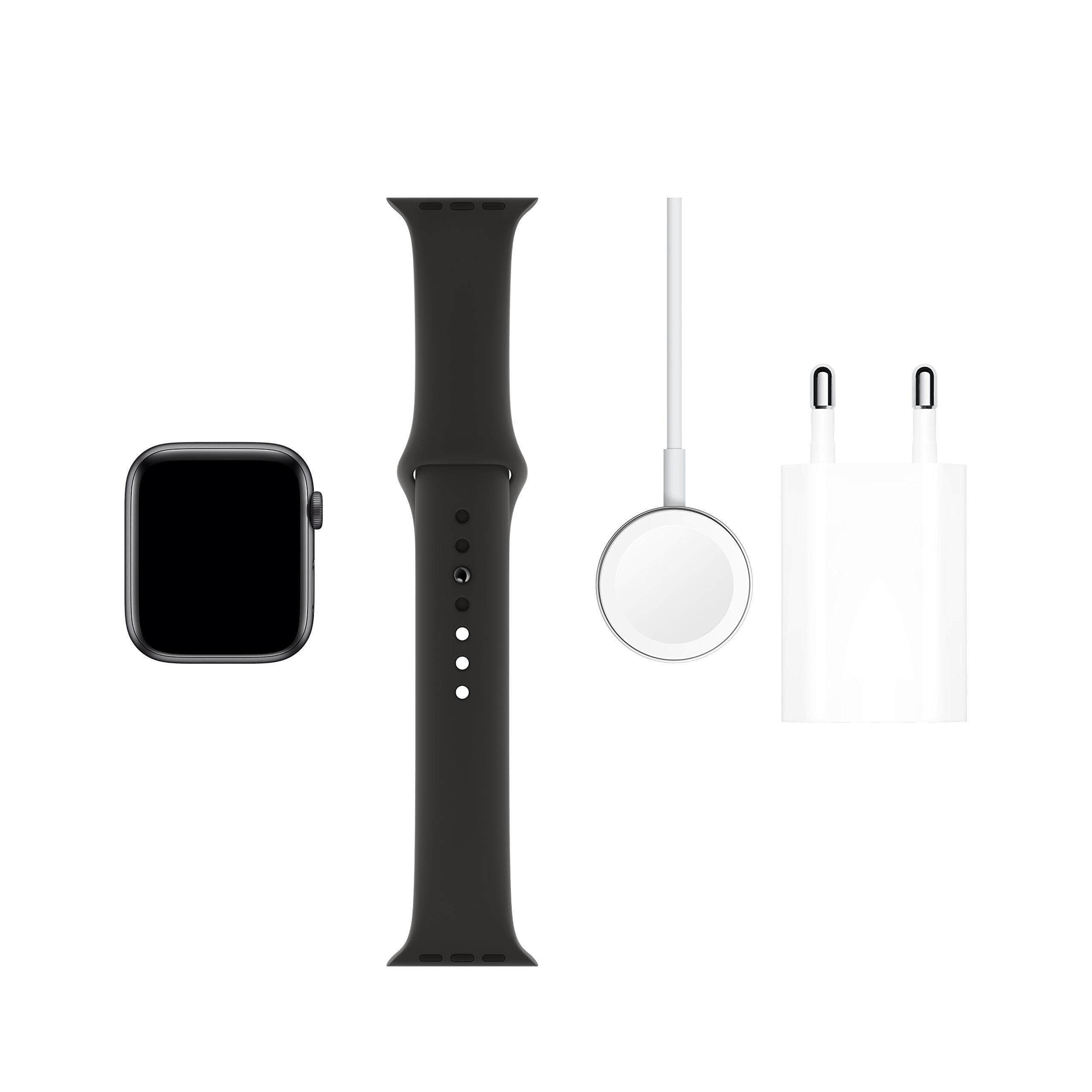 Apple Watch Series 5 (GPS, 44 mm) Aluminio en Gris espacial - Correa Deportiva Negro