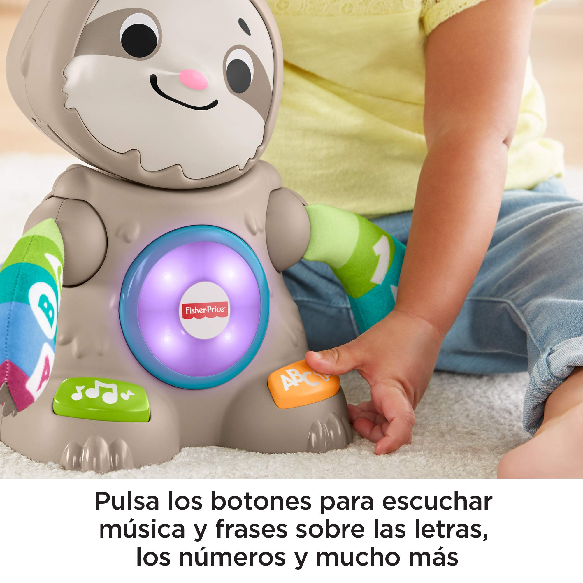 Fisher-Price Perezoso Linkimals, Juguete interactivo bebés +9 meses (Mattel, GHY88)