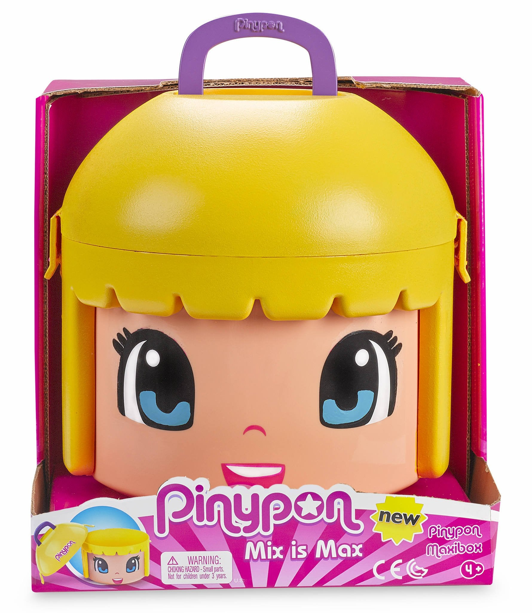 Pinypon- Maxi Box Contenedor, Color Rubia (Famosa 700014085)