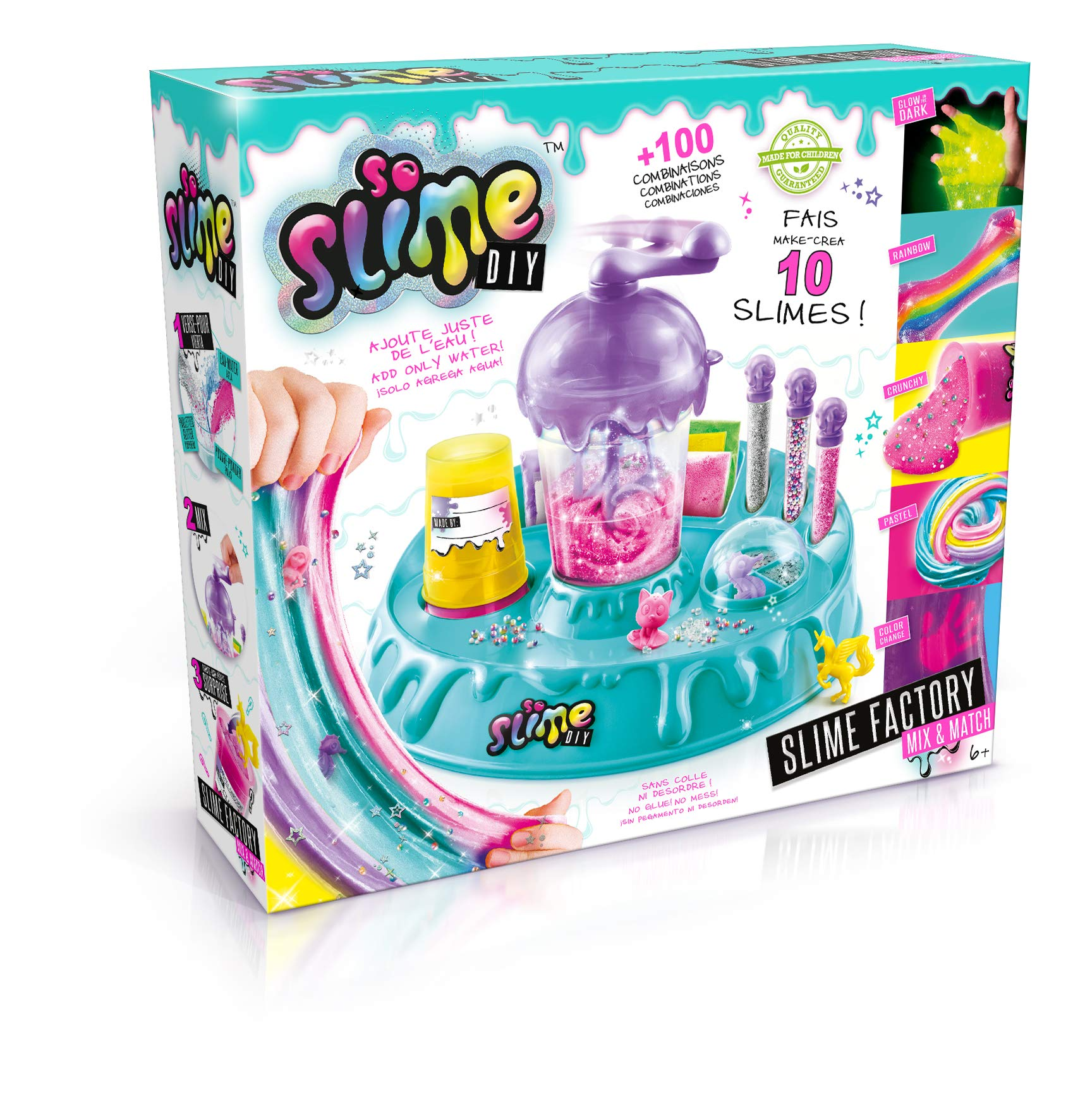 So Slime- Slime Factory Mix&Match Juguete, Color Verde (Canal Toys 32)
