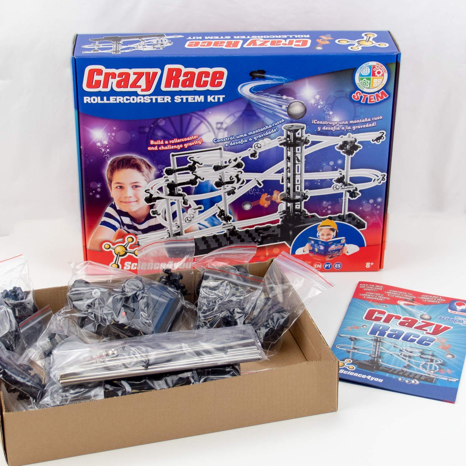 Science4you Science4you-Science4you Circuito de Canicas Crazy Race Stem Kit Juguete Educativo Niños +8 Años (612730)