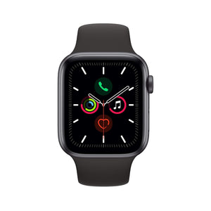 Amazon Apple Watch Series 5 (GPS, 44 mm) Aluminio en Gris espacial - Correa Deportiva Negro