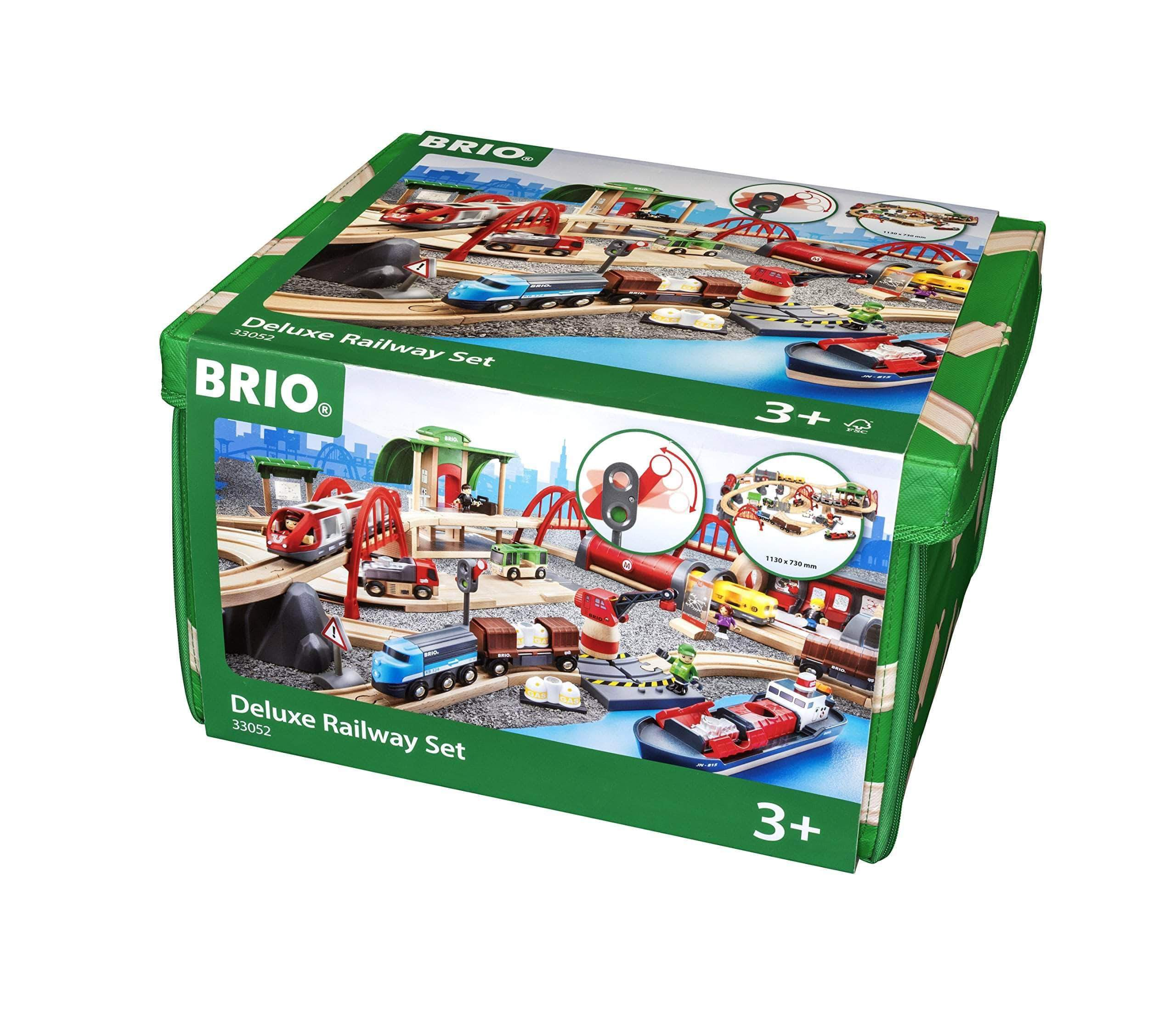 Amazon Brio 33052 Deluxe Railway Set - Set circuito de tren